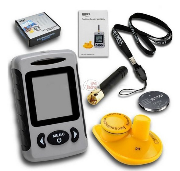 Goture fishing tackele wholesale steps of using a fish finder for Lucky fish finder